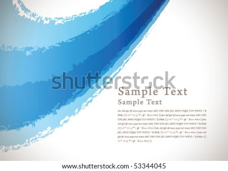 abstract brush background 02 - stock vector