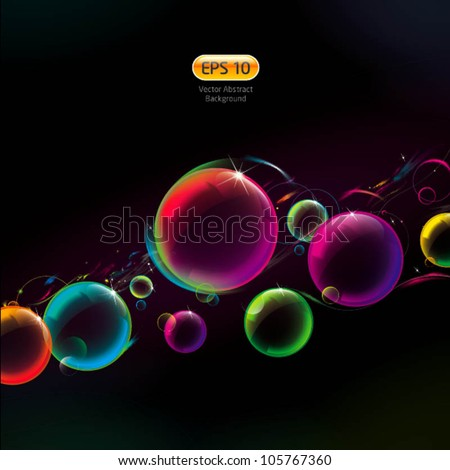 abstract bubble background - stock vector