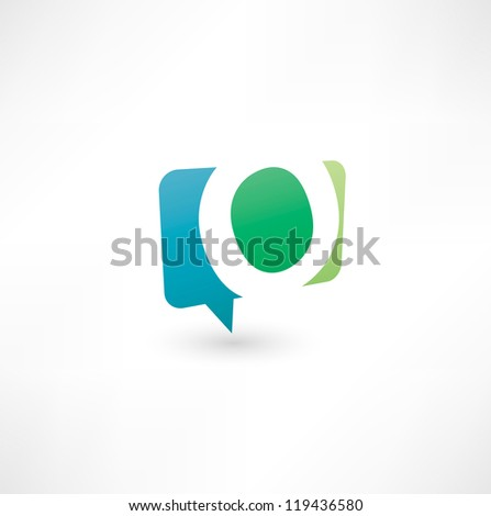 Abstract bubble icon  based on the letter O - stock vector