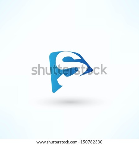 Abstract bubble icon based on the letter S - stock vector