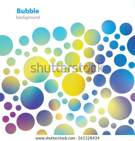 Abstract bubble pattern - business card - blank background - stock vector