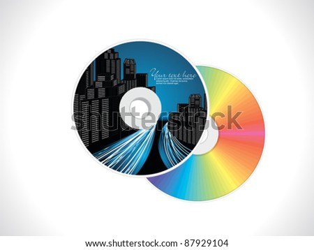 abstract building based cd cover pack design vector illustration - stock vector