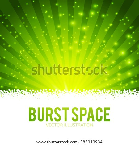 Abstract Burst Background. Rays Circle Design. Vector illustration - stock vector