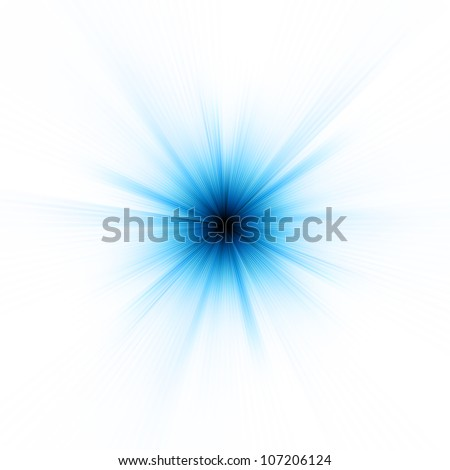 Abstract burst on white, easy edit. EPS 8 vector file included - stock vector