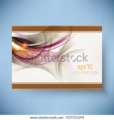 abstract bursting transparent elements background design - stock vector