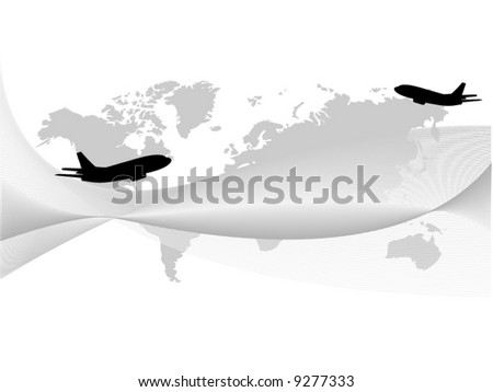 abstract business airplane - stock vector