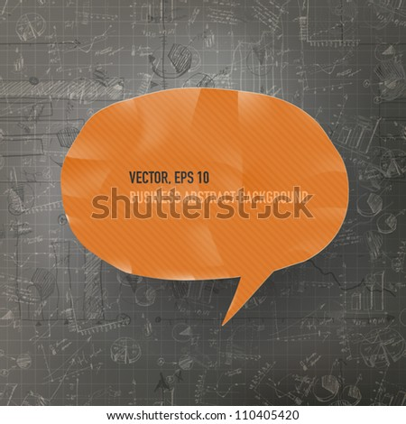Abstract business background with graphs. Vector illustration, EPS10 - stock vector
