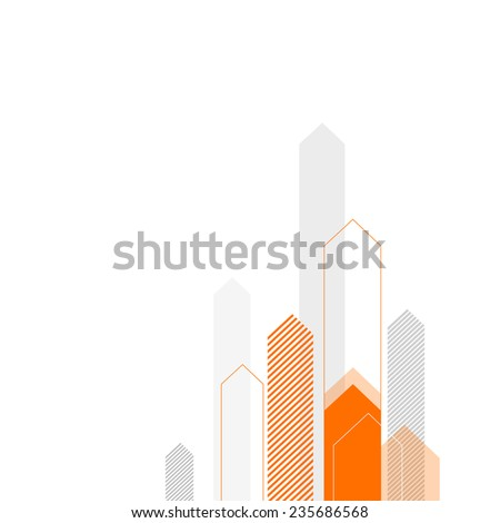 Abstract Business Background with Stylized Arrows to Up. For Cover Book, Brochure, Annual Report etc. - stock vector