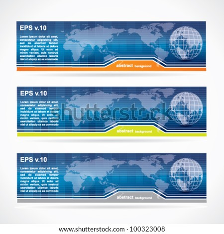 Abstract business banner set - stock vector