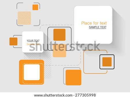 Abstract business blue background - vector  - stock vector