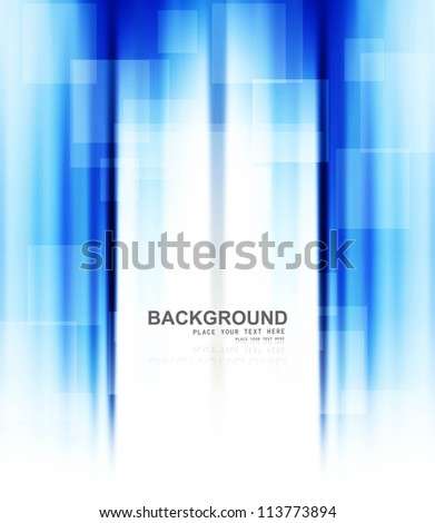 abstract business blue colorful technology background vector - stock vector