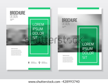 Abstract business Brochure design vector template in A4 size. Document or book cover. Annual report with photo and text. Simple style brochure. Flyer promotion. Presentation cover - stock vector