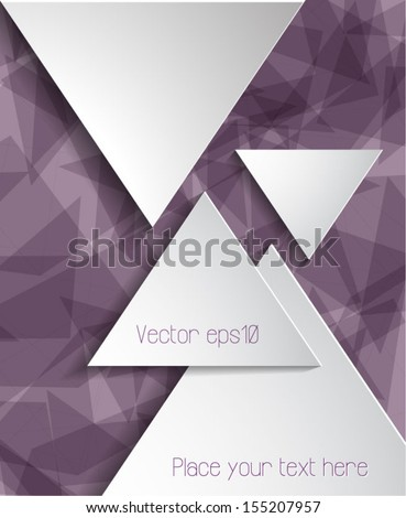 Abstract business brochure template. Vector eps10.