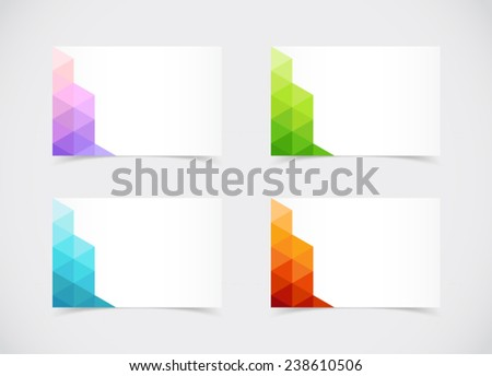 Abstract business card sized text box stock vector royalty free abstract business card sized text box set with fresh colour schemes colourmoves