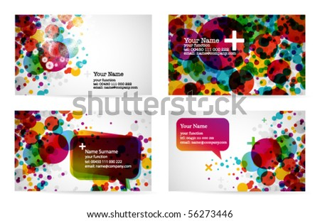 abstract business card templates 1 - stock vector