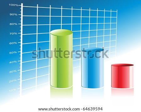 abstract business growth background, vector illustration - stock vector