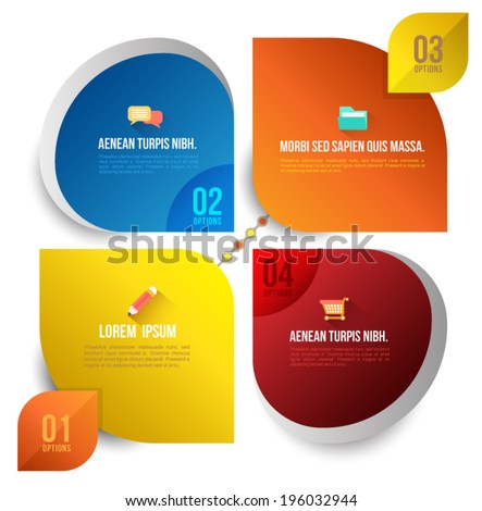 Abstract business infographics options template. Vector illustration. can be used for workflow layout, diagram, business step options. - stock vector