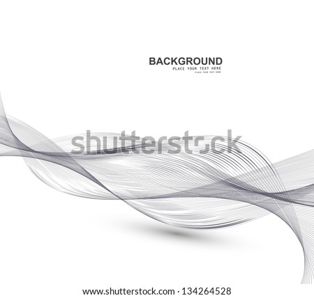 abstract business line wire wave vector whit background - stock vector