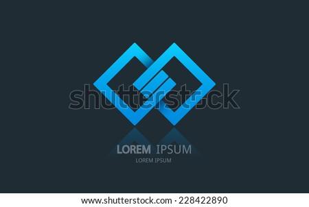 Abstract business logo. Vector logotype design. - stock vector