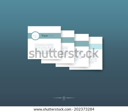 Abstract business presentation vector elements - stock vector