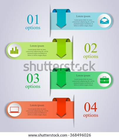 Abstract business process infographics arrow template stock vector abstract business process infographics arrow template can be used for workflow layout diagram wajeb Images