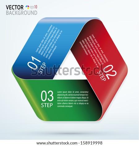 Abstract business stock exchange template. Logo design 3d arrows. EPS-10 - stock vector