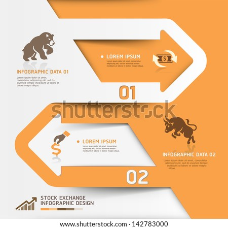 Abstract business stock exchange template. Vector illustration. can be used for workflow layout, diagram, number options, step up options, web design, banner template, infographic. - stock vector