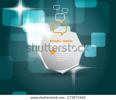 Abstract Business Template. Vector  - stock vector