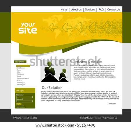 abstract business web site design template, vector illustration. - stock vector