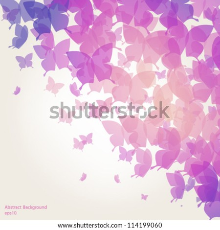 Abstract Butterfly Background - vector eps10 - stock vector