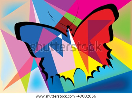 abstract butterfly design