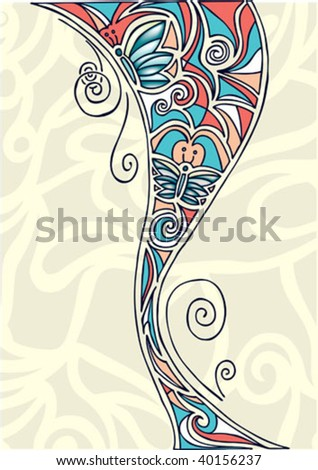abstract Butterfly illustration - stock vector