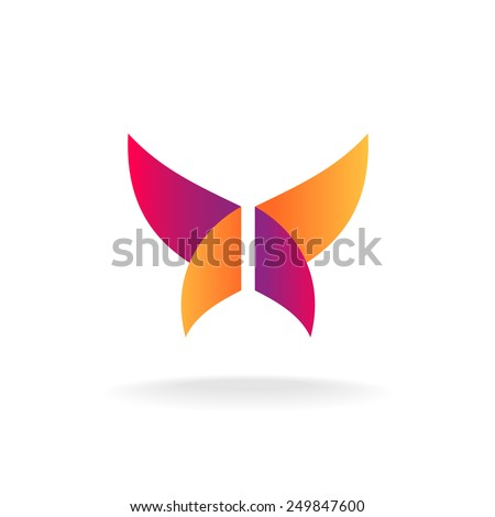 Abstract butterfly logo - stock vector