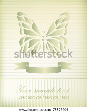 Abstract butterfly on retro background with your text for logo (vector eps 10)
