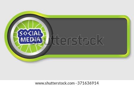 Abstract button for your white text and social media headline - stock vector