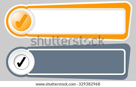 Abstract buttons for your text and check box - stock vector