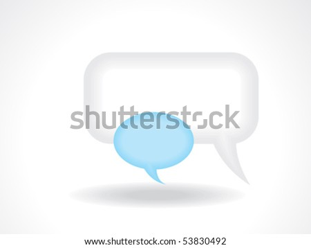 abstract call out shapes icon vector illustration