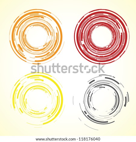 abstract camera lens - stock vector