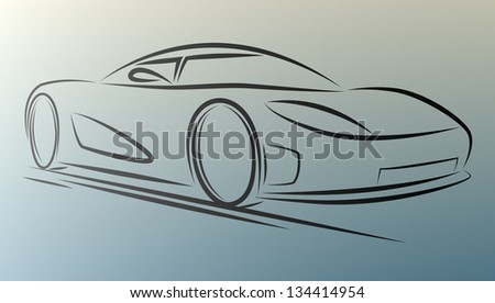 Abstract  car lines on white background. eps10 - stock vector