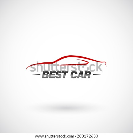 Abstract car  logo design template - stock vector
