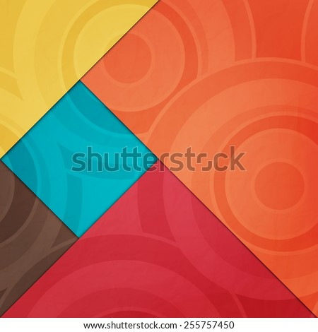 abstract, cartoon style wallpaper with colorful paper pages. contemporary, geometric background design - stock vector