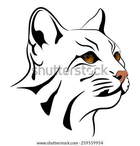 Abstract cat - stock vector