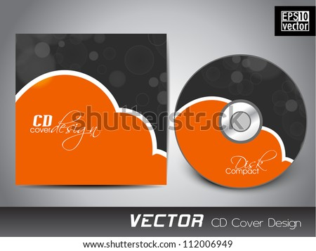 Abstract cd cover design template.Vector illustration Eps 10.