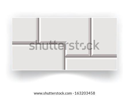 abstract ceramic tiles  - stock vector