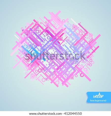 Abstract chaotic colorful background. Design element for graphic design, party flyers, brochure design, business presentation, post cards, book covers. Vector Illustration.  - stock vector