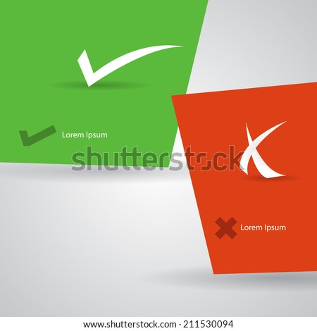 Abstract check marks template. - stock vector