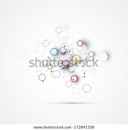 abstract chemical formula technology business science background - stock vector