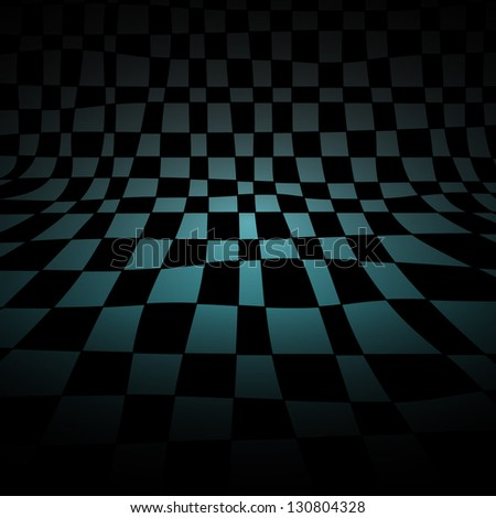 Abstract chess room, gradient vector background, light and shadow