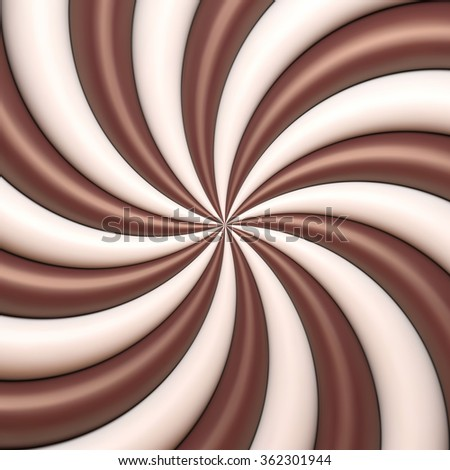 Abstract chocolate and cream background. Vector background for banner, poster, flyer, card, postcard, cover, brochure. - stock vector