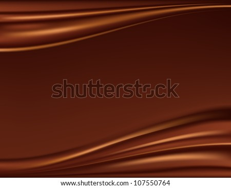 Abstract chocolate background, brown abstract satin, mesh vector illustration - stock vector
